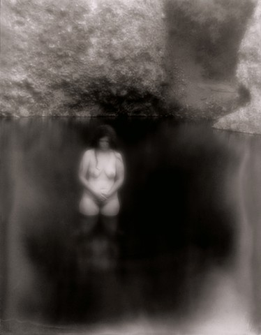 "Beth 3, San Francisco Hot Springs, NM 1996 zone plate photograph archival pigment print 13""x20"""