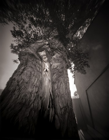 "Virgin of Guadalupe, San Felipe De Neri Church, Albuquerque, New Mexico 1987 pinhole photograph archival pigment print 20""x13"""