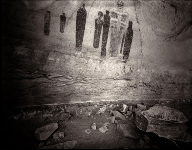"Holy Ghost Panel, Great Gallery, Horseshoe Canyon, Utah 1991 pinhole photograph archival pigment print 13""x20"""