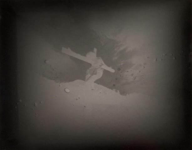 "Crucified Woman 4 1990-2004 pinhole photograph archival pigment print 13""x20"""