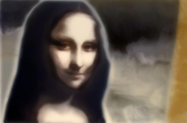 "Mona Lisa 2011 zone plate photograph archival pigment print 20""x13"""