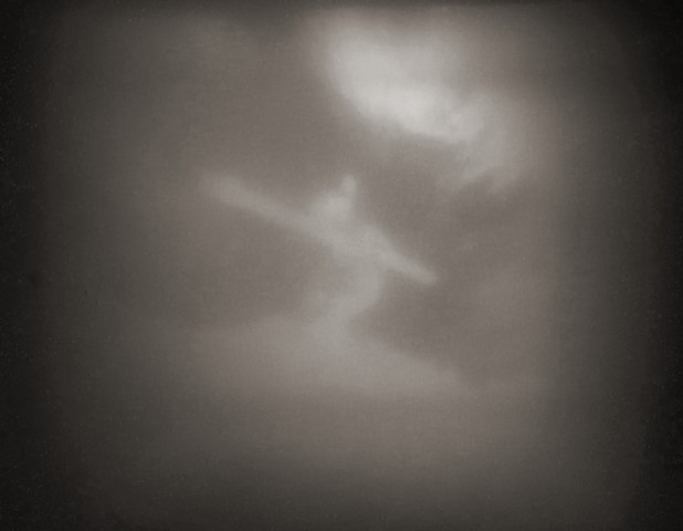 "Crucified Woman 5 1990 pinhole photograph archival pigment print 13""x20"""