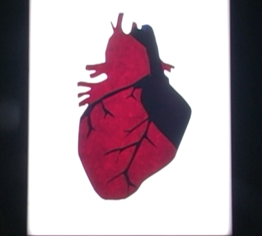 Cut-Paper heart.