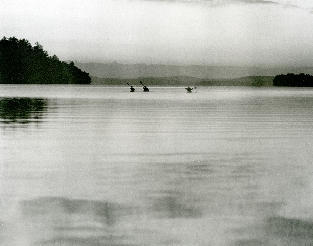 """Kayakers, Grand Lake, Maine"""