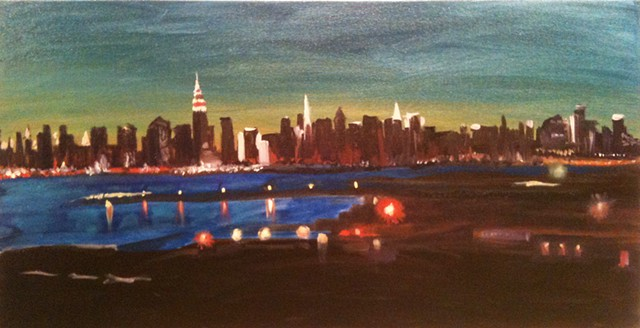 view of Manhattan from my studio window