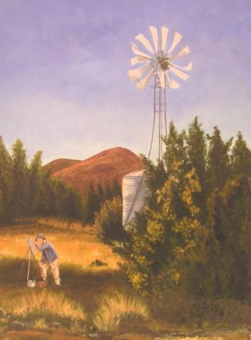 John Marin Paints on the Turquiose Trail