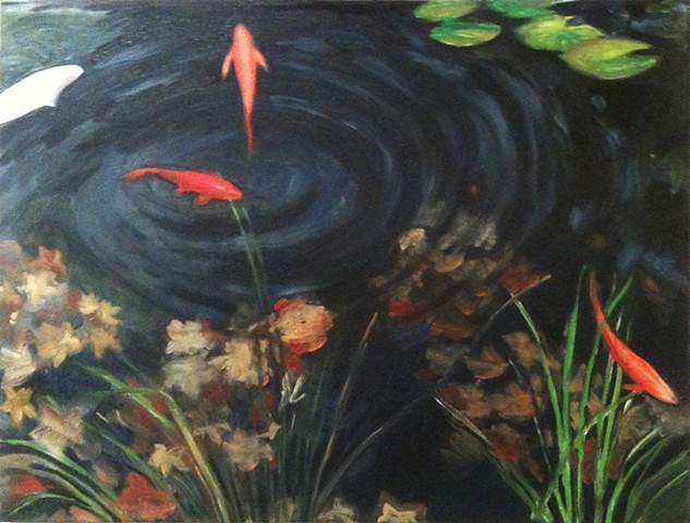This is a koi pond in Rhinebeck NY