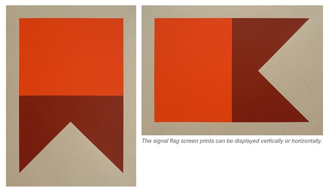 A-Alpha. Swallowtail (Red, OxBlood) Screen Print on Paper  15 x 21 Inches