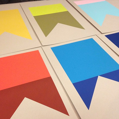 "A-Alpha. B-Bravo. (Set of Six) Screen Prints on Paper  Each Print Measures 15"" x 21"""