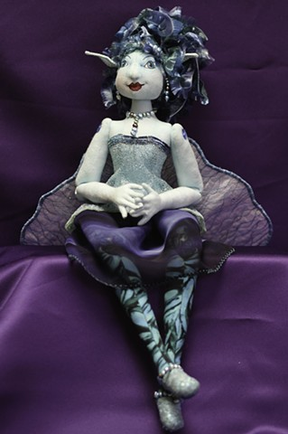 fairy, water fairy, cloth, art, doll, art doll, hand-crafted, original