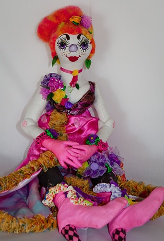 quality hand-crafted clown art doll