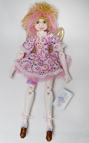 Quality, handcrafted cloth angel art doll