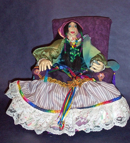 one-of-a-kind, OOAK, Witch, gypsy, cloth, fortuneteller
