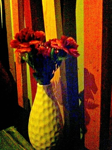 Out Inside with Fake Flowers