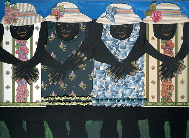 Four Ladies with Hats