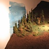 detail of miniature video forest