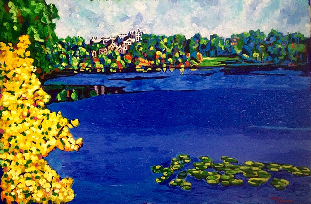 wellelsey lake waban wind blue chelsea sebastian color colorful painting art wellesley college