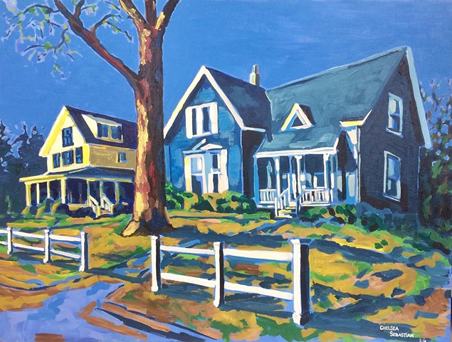 painting chelsea sebastian color wellelsey weston houses light blue yellow fence art