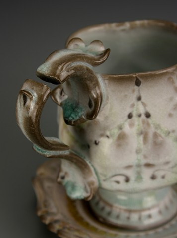 Affected Teacup and Saucer (detail)