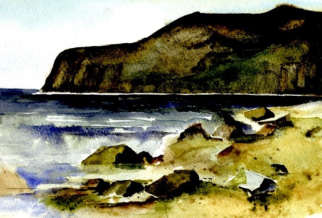 Dunmore, Waterford, Watercolour, print, Ireland,