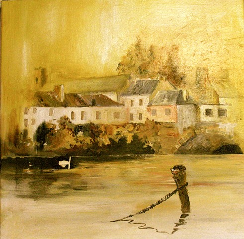 Carrick on Suir,Tipperary, painting, print
