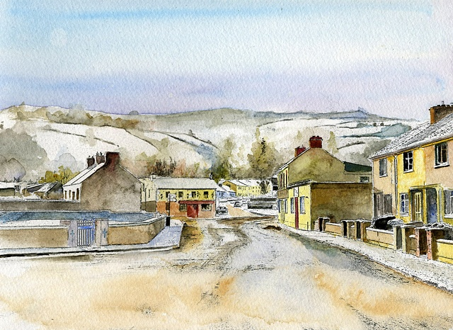 clonmel,old bridge, emigrant's rest, ireland, limited edition,Christmas morning, snow scene,