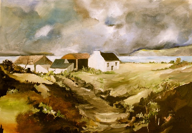 Quilty, County Clare, West Coast, Lahinch, Painting