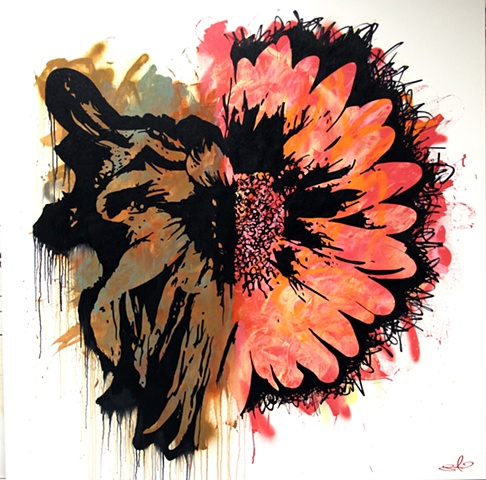 Flower painting of 2 Corinthians 2:16. Life and Death. Fragrance