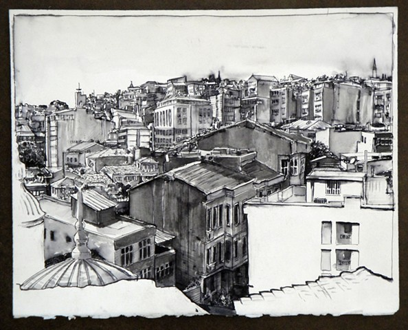 Doug Russell: Travel Drawing Istanbul Turkey