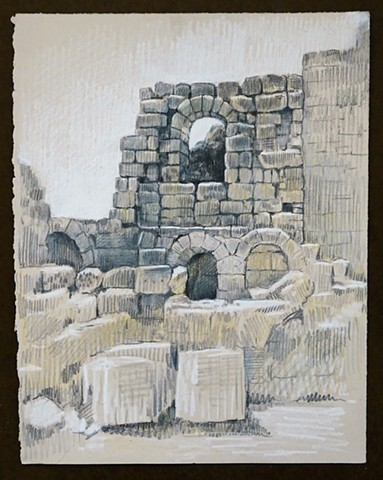 Travel Drawing: Perge, Turkey