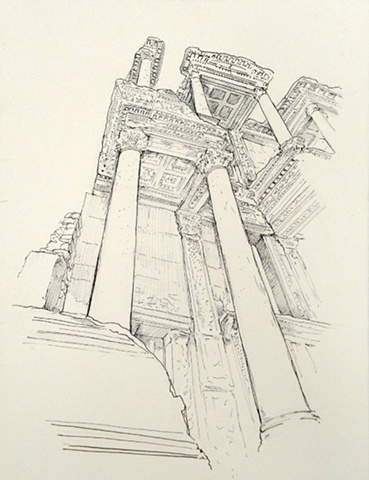 Doug Russell: Travel Drawing Ephesus Turkey