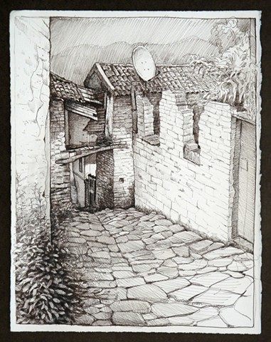 Travel Drawing:  Sirince, Turkey