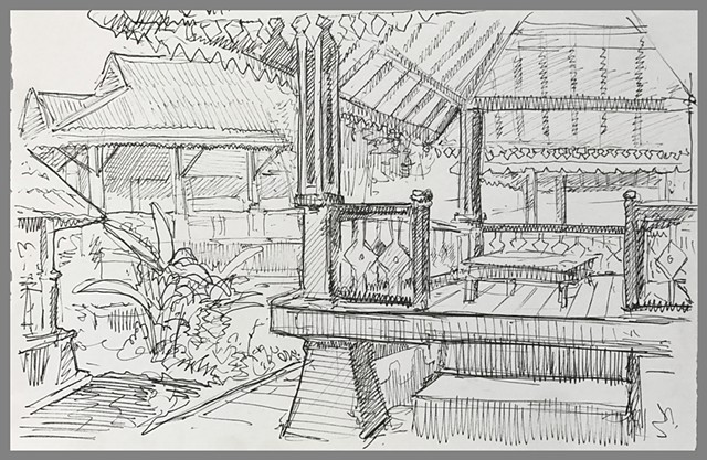 Travel Drawing: Wonosobo, Java, Indonesia