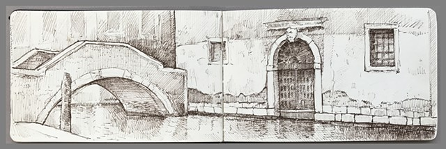 Travel Drawing: Venice, Italy