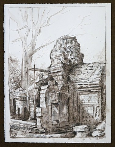 Travel Drawing: Banteay Kdei, Cambodia