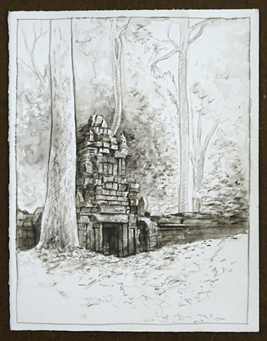 Travel Drawing: Angkor Thom, Cambodia