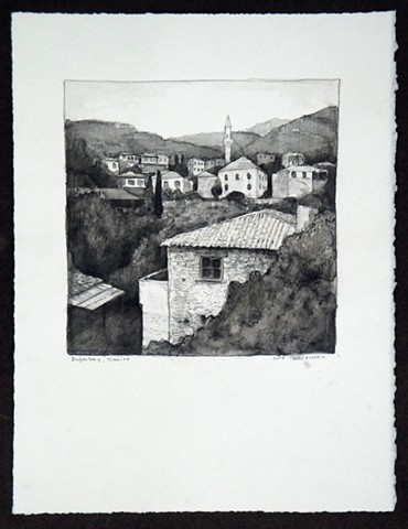Travel Drawing: Doganbey, Turkey