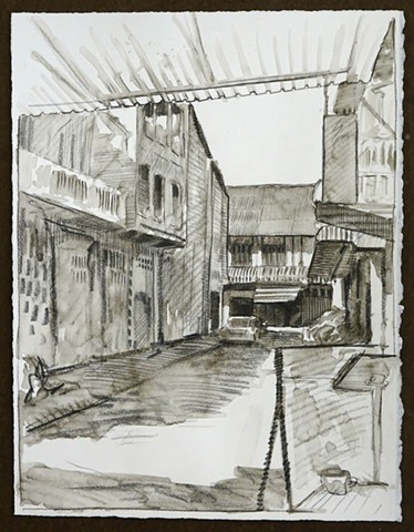 Travel Drawing: Battambang, Cambodia