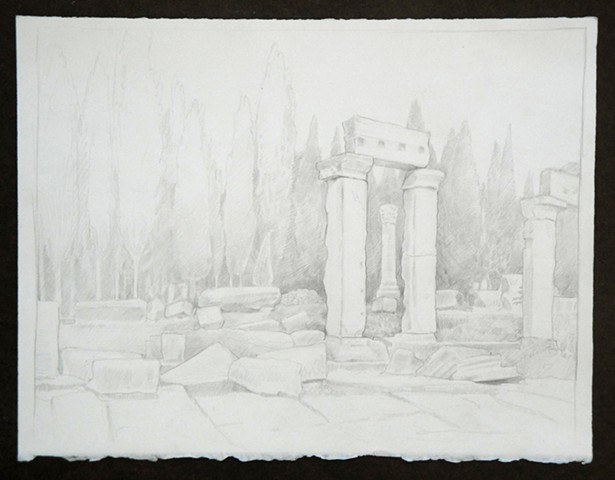 Doug Russell: Travel Drawing Pamukkale Turkey