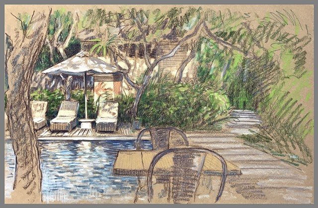 Travel Drawing: Sanur, Bali, Indonesia