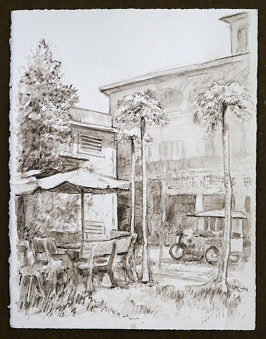 Travel Drawing: Kampot, Cambodia