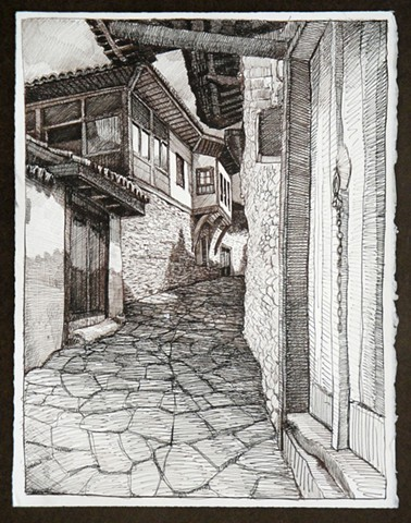 Travel Drawing:  Birgi, Turkey