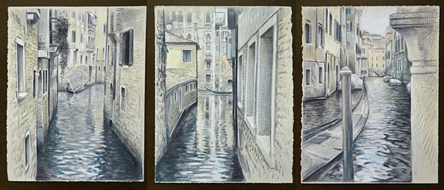 Travel Drawing: Venice Triptych