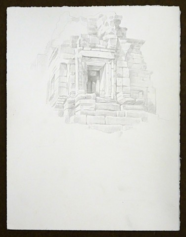 Travel Drawing: Preah Pitu Group, Angkor Thom, Cambodia