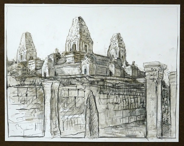 Travel Drawing: Pre Rup, Cambodia