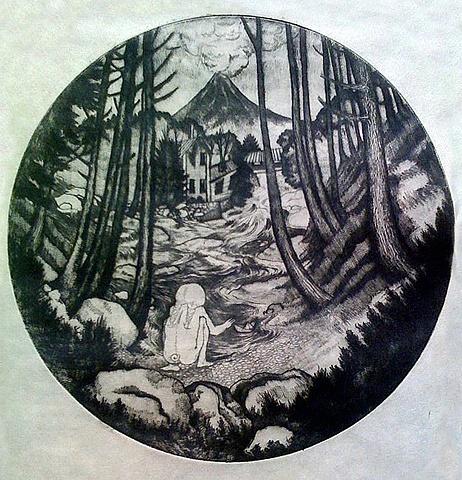 drypoint, printmaking, etching