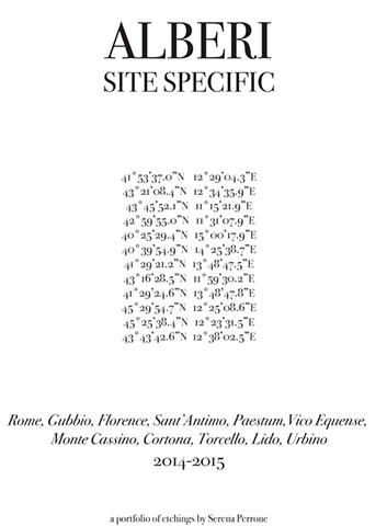 Alberi: Site Specific (colophon)