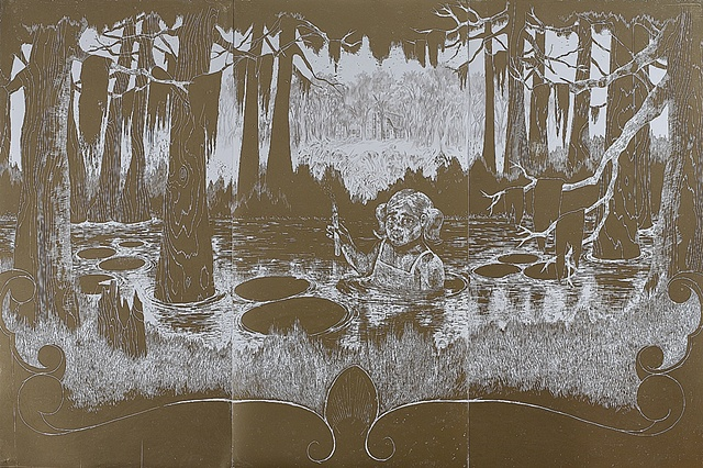 woodcut, drawing, printmaking, landscape