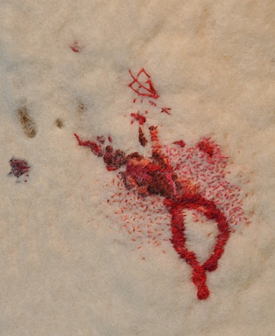 Bleeding shin (close-up)