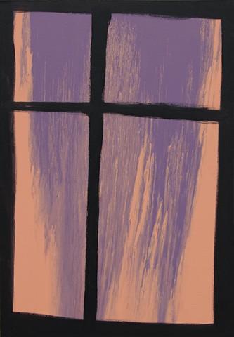 Transition, Flow, Movement, Dripping, Spilling, Brooklyn, Fine Arts, Crown Heights, Elizabeth Fonacier, Purple to Orange, Orange, Purple, Painting